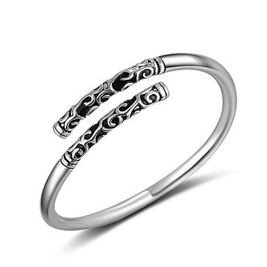 Pierścionki Impreza Casual Sport Biżuteria Posrebrzany Pierścionki na palec środkowy Duże pierścionki Pierscionek 1szt,Regulacja Srebrne