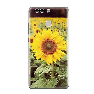 Kılıf Na Huawei P9 Huawei P9 Lite Huawei P8 Huawei Huawei P9 Plus Huawei P8 Lite Wzór Czarne etui Kwiaty Miękkie TPU na Huawei P9 Plus