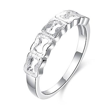 Yüzükler Günlük Mücevher Bakır Gümüş Kaplama Kadın Yüzük 1pc,7 8 Gümüş