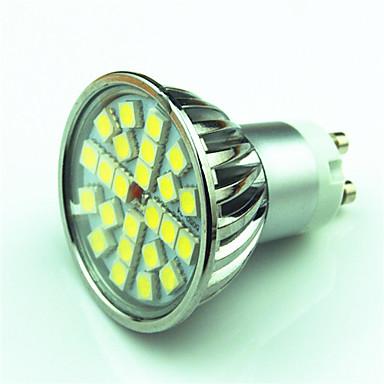 1pc 4 W 350 lm GU10 Spot LED 24 Perles LED SMD 5050 Intensité Réglable Blanc Chaud / Blanc Froid 220 V / 85-265 V / 1 pièce