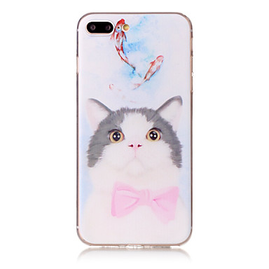 Varten Kuvio Etui Takakuori Etui Kissa Pehmeä TPU varten Apple iPhone 7 Plus iPhone 7 iPhone 6s Plus/6 Plus iPhone 6s/6 iPhone SE/5s/5