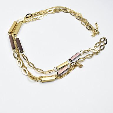 Damskie Łańcuszki na szyję Biżuteria Biżuteria Stop Spersonalizowane Unikalny euroamerykańskiej Europejski Modny Biżuteria Na Impreza