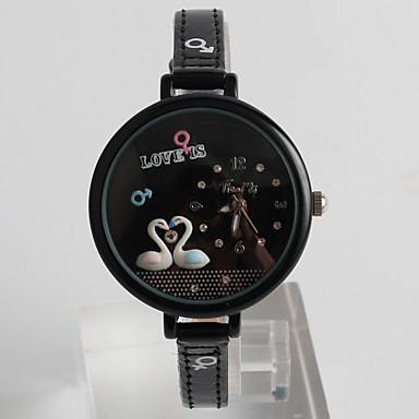 Bayanların Elbise Saat Moda Saat / Quartz PU Bant Karton Günlük Siyah