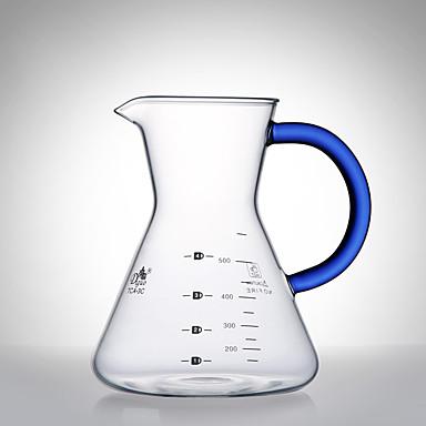 500 مل زجاج أباريق القهوة ، 4 أكواب المشروب القهوة صانع يعاد استعماله