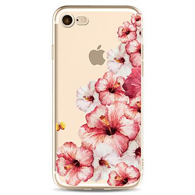 Etui Käyttötarkoitus Apple iPhone X iPhone 8 Plus Kuvio Takakuori Kukka Pehmeä TPU varten iPhone X iPhone 8 Plus iPhone 8 iPhone 7 Plus