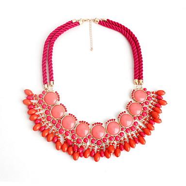 Dame Coliere Choker Bijuterii Piatră Preţioasă Aliaj Bijuterii La modă Personalizat Euramerican Albastru Închis Rosu BijuteriiPetrecere