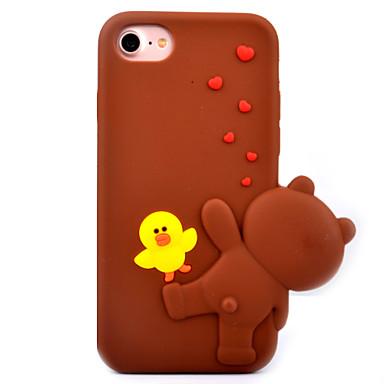 Varten Kuvio Etui Takakuori Etui 3D piirros Pehmeä Silikoni varten Apple iPhone 7 Plus iPhone 7 iPhone 6s Plus/6 Plus iPhone 6s/6