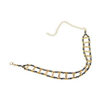 قلادات ضيقة كريستال مجوهرات كريستال سبيكة قديم أوروبي موضة euramerican في حصى مصنوع يدوي مجوهرات من أجل يوميا فضفاض