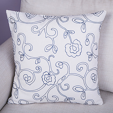 1.0 kpl Polyesteri Tyynynpäälinen,Koristelut ja kirjailut Euro