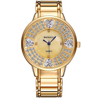 Kadın's Elbise Saat Moda Saat Bilek Saati Quartz Alaşım Bant Işıltılı İhtişam Günlük Havalı Gümüş Altın Rengi Gül Altın
