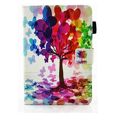 tok Για Apple iPad Mini 4 Μίνι iPad 3/2/1 Θήκη καρτών με βάση στήριξης Ανοιγόμενη Μαγνητική Πλήρης Θήκη Λουλούδι Σκληρή PU δέρμα για iPad