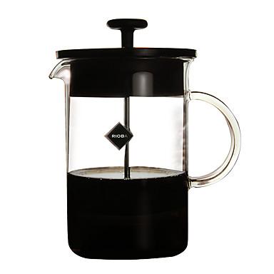 600 ml Glass Γαλλικός Τύπος , 5 φλιτζάνια ετοιμάζω καφέ Κατασκευαστής Επαναχρησιμοποιήσιμο