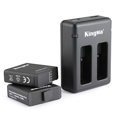 KingMa® Charger pil For GoPro Hero 5 Dalış Bisiklet