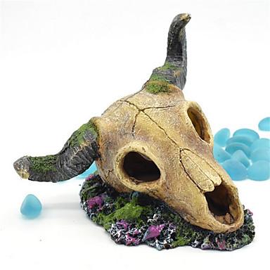 Decorațiune pentru Acvariu Ornamente Ne-Toxic & Fără Gust Resin Gri