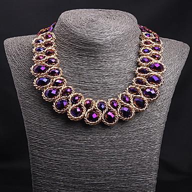 Kadın Gerdanlıklar Açıklama Kolye Kristal Değerli Taş alaşım Euramerican Beyanname Takımı Moda lüks mücevher Avrupa Eski TipSiyah Gümüş