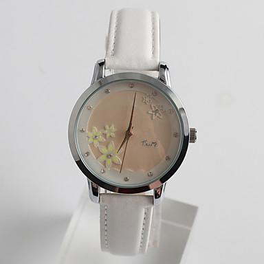 Damskie Modny Sztuczny Diamant Zegarek Kwarcowy / sztuczna Diament PU Pasmo Kwiat Na co dzień Biały White