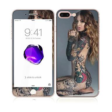 لابل اي فون 7 4.7 الزجاج مع جبهة حافة ناعمة التغطية الكاملة الشاشة والخلفي حامي الشاشة نمط سيدة جنسي