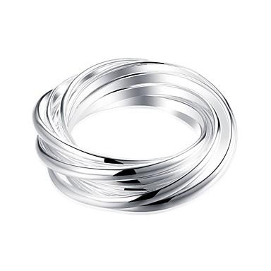Pierscionek Silver Miedź Posrebrzany Codzienny Casual Biżuteria kostiumowa