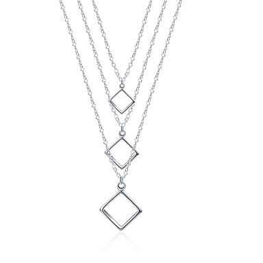 Γυναικεία Geometric Shape Εξατομικευόμενο Μοναδικό Κρεμαστό Βίντατζ Μποέμ Βασικό Καρδιά Φιλία χαριτωμένο στυλ Euramerican Χειροποίητο