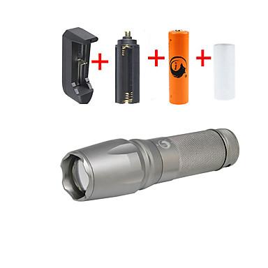 U'King Φακοί LED Κιτ Φακών LED 2000 lm 5 Τρόπος Cree XM-L T6 Ρυθμιζόμενη Εστίαση Κατασκήνωση/Πεζοπορία/Εξερεύνηση Σπηλαίων Καθημερινή