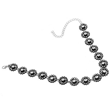 Κολιέ Τσόκερ Κοσμήματα Κοσμήματα Ρητίνη Προσομειωμένο διαμάντι Κράμα Εξατομικευόμενο Μοντέρνα Euramerican Διπλή στρώση Ευρωπαϊκό Κοσμήματα
