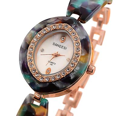 Kadın's Moda Saat Bilek Saati Quartz Alaşım Bant İhtişam Havalı Günlük Yaratıcı Kırmızı Yeşil