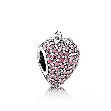 Zincir & Halka Bileklikler Doğa lüks mücevher kostüm takısı Som Gümüş Simüle Elmas Cross Shape Mücevher Mücevher Uyumluluk Doğumgünü