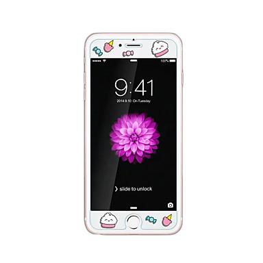 لابل اي فون 6 / 6S بالإضافة إلى 5.5INCH الزجاج الشفاف الأمامي حامي الشاشة مع زخرف الكرتون نمط توهج في الظلام الحلوى