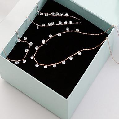 Damskie Kolczyki wiszące Biżuteria Spersonalizowane Modny Srebro standardowe Cyrkon Cyrkonia Pozłacane Pokryte różowym złotem Biżuteria