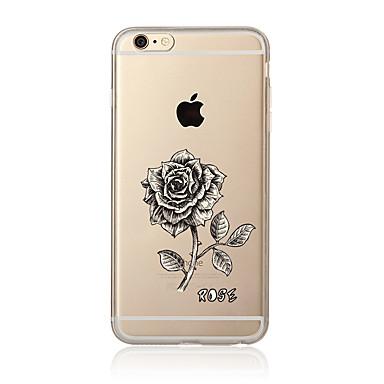 Pouzdro Uyumluluk Apple iPhone 7 Plus iPhone 7 Şeffaf Temalı Arka Kapak Çiçek Yumuşak TPU için iPhone 7 Plus iPhone 7 iPhone 6s Plus