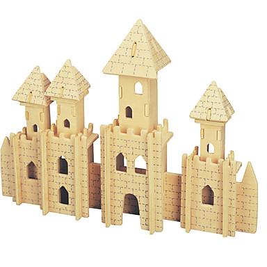 puzzle-uri Kit Lucru Manual Modelul de afișare Lego Puzzle 3D Jucării Educaționale Puzzle Puzzle Lemn Blocuri de pereti DIY JucariiCastel