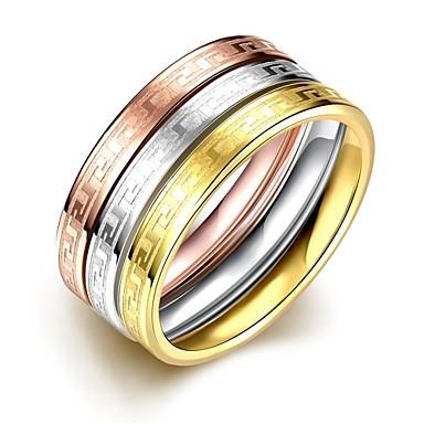 عصابة الهالووين يوميا فضفاض مجوهرات الصلب التيتانيوم خاتم 1PC,6 7 8 9 لون متعدد
