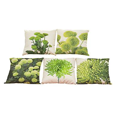 5 szt Bielizna Naturalne / ekologiczne Poszewka na poduszkę Pokrywa Pillow, Jendolity kolor Textured Na co dzień Styl plażowy Euro Wałek
