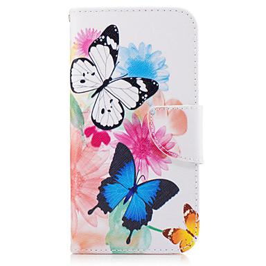 Maska Pentru Samsung Galaxy A5(2017) A3(2017) Portofel Titluar Card Cu Stand Întoarce Corp Plin Fluture Greu PU Piele pentru A3 (2017) A5