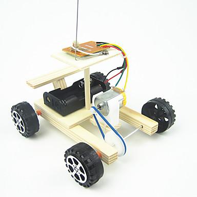ألعاب التحكم عن بعد لعبة سيارات سيارة تحكم عن بعد إبداعي كهربائي اصنع بنفسك خشبي المعدنية بلاستيك صبيان للأطفال هدية 1pcs