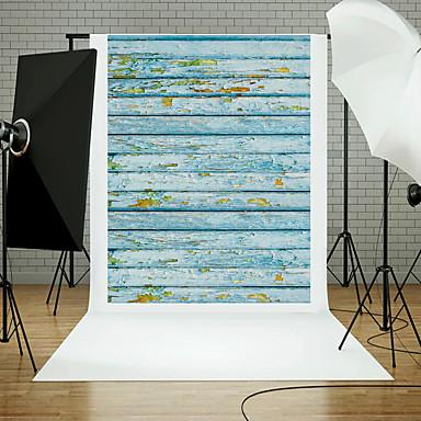 5x7ft din lemn etaj studio de perete fotografie de fundal elemente de recuzită temă bord albastru nou