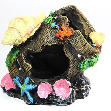 Akvaryum Dekorasyonu Saç Süsleri Zehirsiz ve Tatsız Reçine Plastik