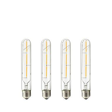 4 buc 3W 150 lm E27 Bec Filet LED Tub 3 led-uri COB Alb Cald AC 220-240 V