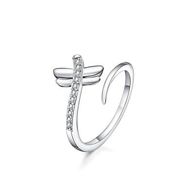 Kadın Yüzük Ayarlanabilir Açık Gümüş Kaplama Diğerleri Mücevher Günlük