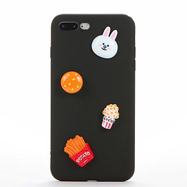 غطاء من أجل Apple iPhone 7 Plus iPhone 7 اصنع بنفسك غطاء خلفي 3Dكرتون ناعم سيليكون إلى iPhone 7 Plus iPhone 7 iPhone 6s Plus ايفون 6s