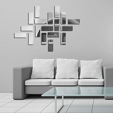 Peilit Muodot Abstrakti Wall Tarrat Kristalli-seinätarrat Peilitarrat Koriste-seinätarrat,Vinyyli materiaali Kodinsisustus Seinätarra