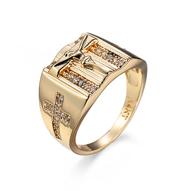 Pentru femei Inel - Zirconiu, Zirconiu Cubic European, stil minimalist 6 / 7 / 8 Auriu Pentru Petrecere