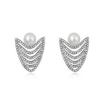 Damskie Kolczyki na sztyft Perła Natura Perłowy Stop Biżuteria Biżuteria Na Codzienny