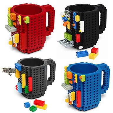 Aufgebaute Ziegelsteinbecherart-Bausteinkaffeetasse diy Blockpuzzlespielbecher tragbare drinkware, die Becher trinkt
