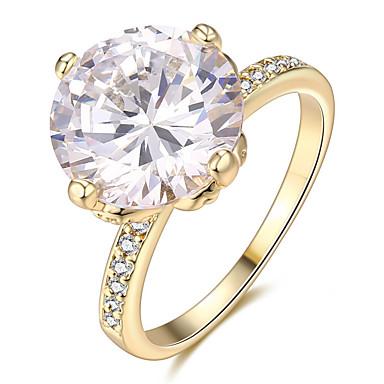 Γυναικεία Εντυπωσιακά Δαχτυλίδια Δαχτυλίδι Δαχτυλίδι αρραβώνων Εξατομικευόμενο Geometric Μοναδικό Μοντέρνα Euramerican Κρύσταλλο