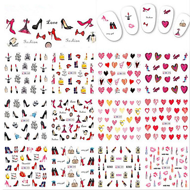 1pcs 12design Nail Art tarra Veden siirto Decals meikki Kosmeettiset Nail Art Design