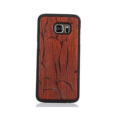 Etui Käyttötarkoitus Samsung Galaxy S7 edge S7 Kuvio Takakuori Geometrinen printti Kova Puinen varten S7 edge S7