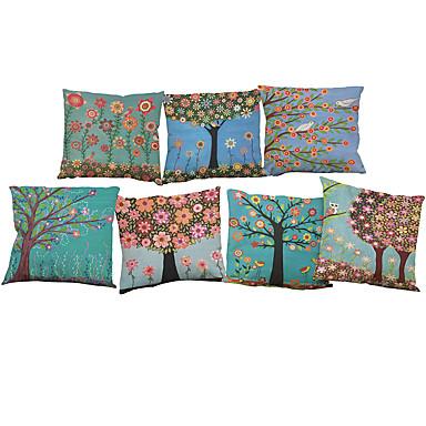 7 szt Bielizna Poszewka na poduszkę Pokrywa Pillow, Jendolity kolor Słowa i cytaty Wildlife Textured Nowość Na co dzień Styl plażowy