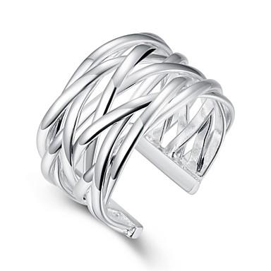 Pierścionki Codzienny Casual Biżuteria Miedź Posrebrzany Pierscionek 1szt,Regulacja Srebrne