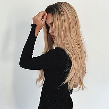 Peruki syntetyczne Falisty Włosy syntetyczne Termoodporny / Włosy ombre / Ciemne u nasady Blond Peruka Damskie Długo Bez czepka